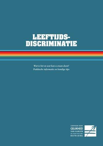 LEEFTIJDS- DISCRIMINATIE - Centrum voor gelijkheid van kansen ...