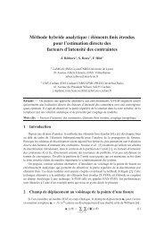 Méthode hybride analytique / éléments finis étendus pour l ...