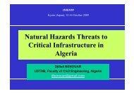 Natural Hazards Threats to Critical Infrastructure in ... - Nexus-idrim.net
