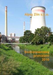Alpiq Zlín s.r.o. - CENIA, česká informační agentura životního prostředí