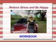 WORKBOOK Reduce Stress and Be Happy - Instant Bonus Page