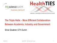 The Triple Helix – More Efficient Collaboration ... - Regiosuisse