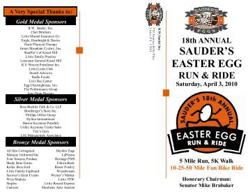 Sauder's Egg Run & Ride Entry Form - Sauder's Eggs