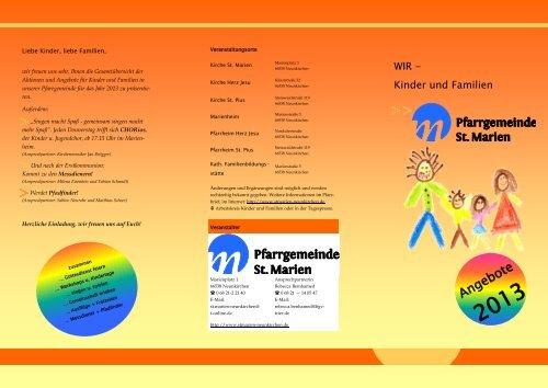 Jahresprogramm 2013 - Kath. Kirchengemeinde St. Marien ...