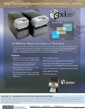 View Cxi data sheet - Digi-Trax