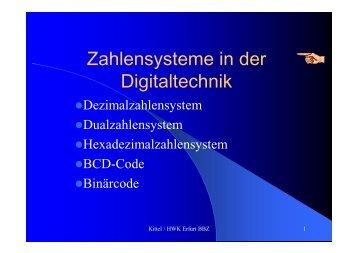 Zahlensysteme in der Digitaltechnik