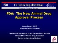 FDA: The New Animal Drug Approval Process