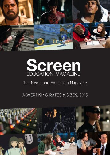 Screen Education media kit (including advertising ... - Metro Magazine