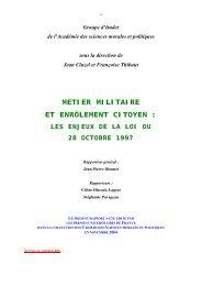 métier militaire et enrôlement citoyen - Académie des sciences ...