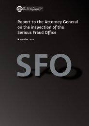 Report to the Attorney General on the inspection of the ... - HMCPSI