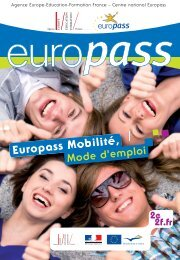 Europass Mobilité, - Agence Europe-Education-Formation France