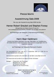 Prix Gaïa - Haldimann Horology