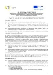 ii - general conditions part a: legal and administrative provisions