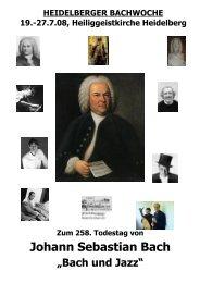 HEIDELBERGER BACHWOCHE - Bach Cantatas