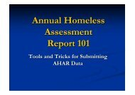Annual Homeless Assessment Report 101: Tools and ... - OneCPD