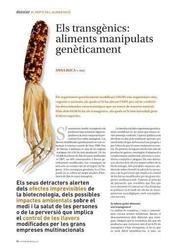 Els transgènics: aliments manipulats genèticament - Raco