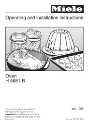 Operating and installation instructions Oven H 5681 B