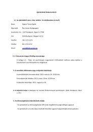 Ajánlattételi Dokumentáció 1.) Az ajánlatkérő neve, címe, telefon - Ute