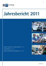 Jahresbericht 2011 - Industrie und Handelskammer zu Coburg