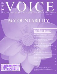 ACCOUNTABILITY - National Coalition Against Domestic Violence