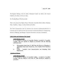 Council Minutes Monday, June 15, 2009 - City of St. John's