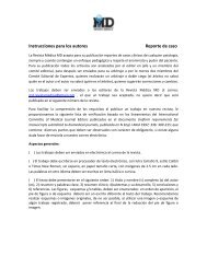 Instrucciones para los autores Reporte de caso - Imbiomed