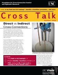 Direct vs Indirect Cross-Connections - University of Southern ...