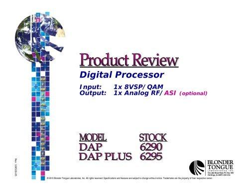 1 8VSB/QAM to Analog RF/ASI - Blonder Tongue Laboratories Inc.