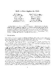 TAX: A Tree Algebra for XML - Electrical Engineering and Computer ...