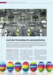 Auch der Formenbau ist automatisierbar - Maschine + Werkzeug