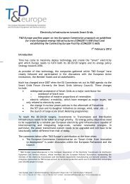 T&D Europe position paper on Electricity Infrastructures towards ...