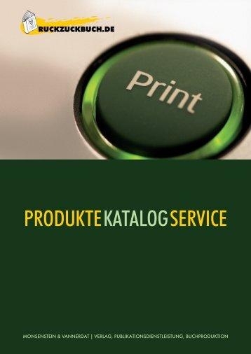 PRODUKTEKATALOG SERVICE - Book on Demand