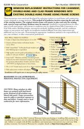 window replacement instructions for casement, double ... - Pella.com