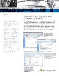 Order Management for Business Portal - Dynamics Innovations