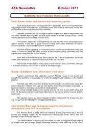ABA Newsletter October 2011 - Asian Bankers Association