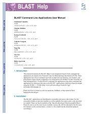 BLAST Command Line Applications User Manual