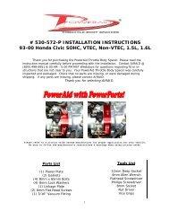 # 530-572-P INSTALLATION INSTRUCTIONS 93-00 Honda ... - Airaid