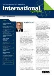 International Update Issue 1, December 2010 - ACER