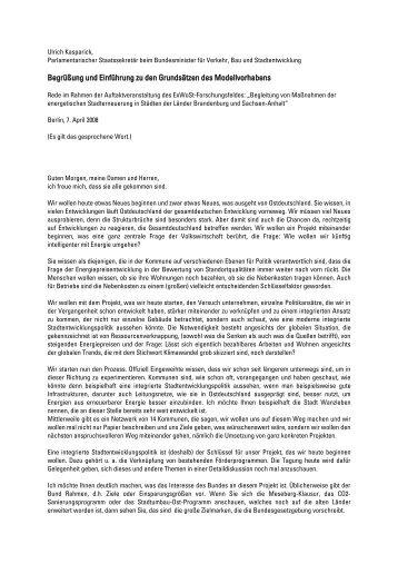 Begrüßung und Einführung zu den Grundsätzen des ... - Stadttechnik