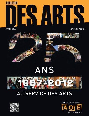 Novembre 2012 - Arts Ottawa East / Arts Ottawa Est