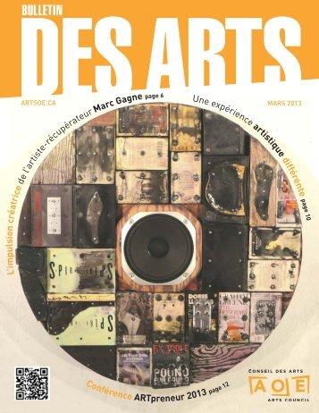 Mars 2013 - Arts Ottawa East / Arts Ottawa Est