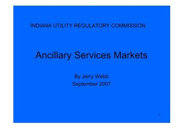 Ancillary Services Markets - Narucpartnerships.org
