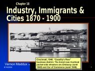 Chapter 18 Immigrants & Cities 1870-1900 - Rose State College