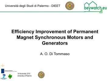 Very high speed slotless permanent magnet motors for Permanent magnet synchronous motor