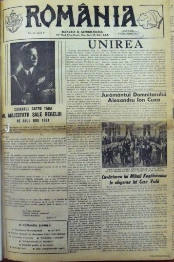 Ziare - Ziarul Romania - arhivaexilului.ro