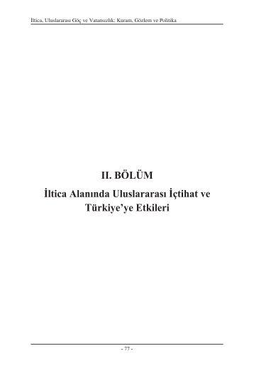Page 1 İltica, Uluslararası Göç ve Vatansızlık: Kuram, Gözlem ve ...