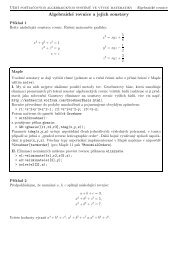 Algebraické rovnice a jejich soustavy