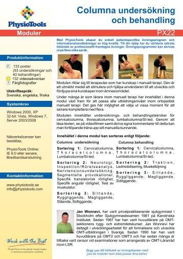 PX22 Vertebral Column Examination Product Card fi