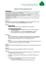 Merkblatt für die Antragstellung - Bayerischer Naturschutzfonds