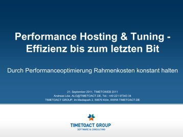 Performance - Timetoact